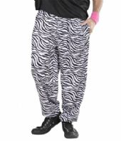 80's Baggy Zebra Trousers (9883)